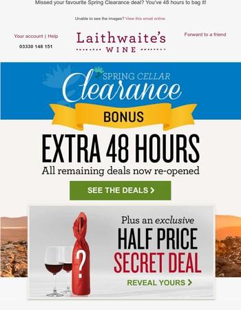 ★ 48hr BONUS! All deals re-opened + new HALF PRICE offer ★