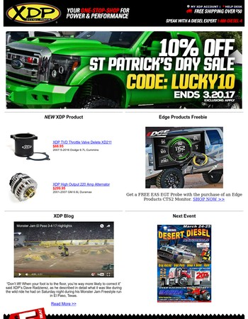 XDP - St Patrick's Day Savings