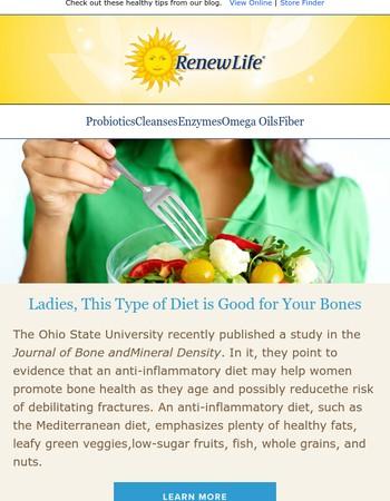 Ladies, This Type of Diet is Good for Your Bones