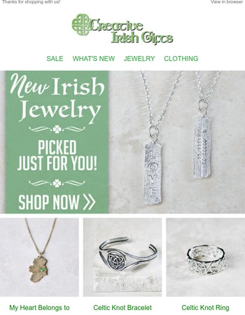 Beautiful New Jewelry, picked just for you!