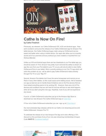News from Cathe dot Com