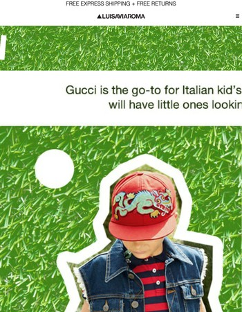 GUCCI kids: Fresh & Fun Italian Fashion