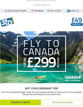 Canada flights from £299!