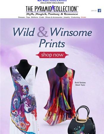 Swirling. Stunning. Wild. Apparel & Accessories!
