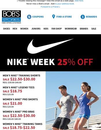 25% OFF Select Nike