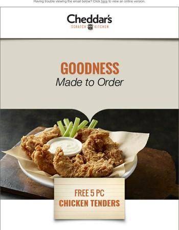 Hurry! FREE 5 PC Chicken Tenders Expire Sunday!