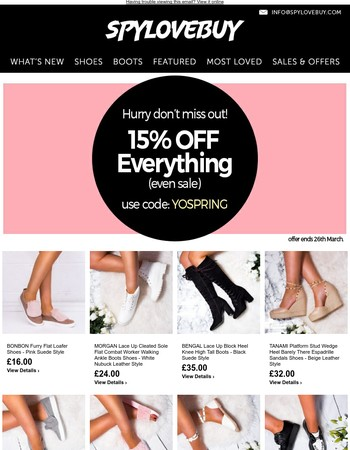 Want 15% OFF everything? Best hurry!