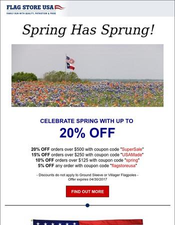 Spring Has Sprung & So Have the Savings!