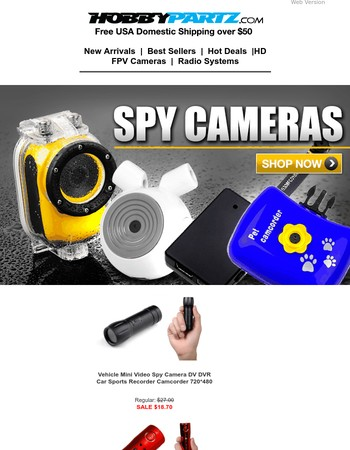 Hot Selling FPV, Sport, Covert Spy Cameras