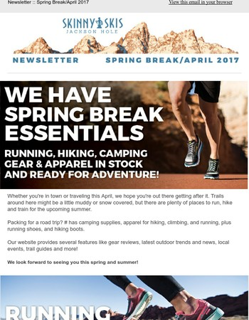 Spring break is coming - gear up for fun!