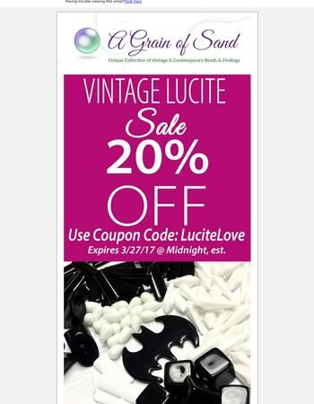 20% OFF Vintage Lucite