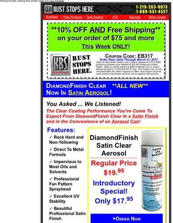 DiamondFinish Clear Aerosol - Now In Satin