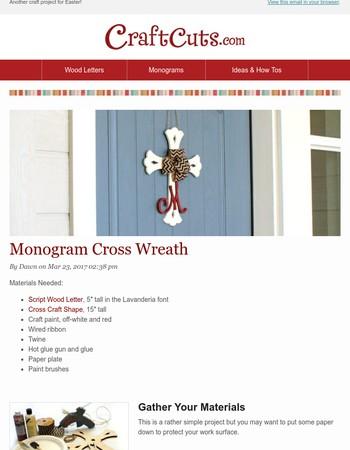 DIY: Monogram Cross Wreath