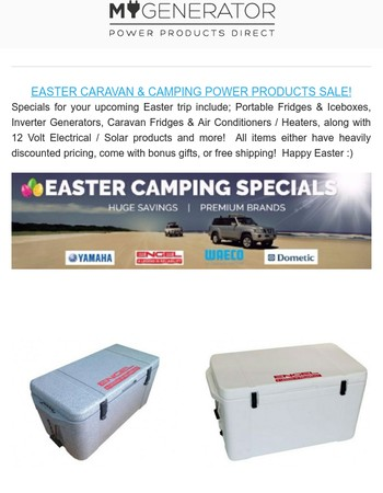 Giant Easter Caravan & Camping Sale + Portable Fridge Giveaway!