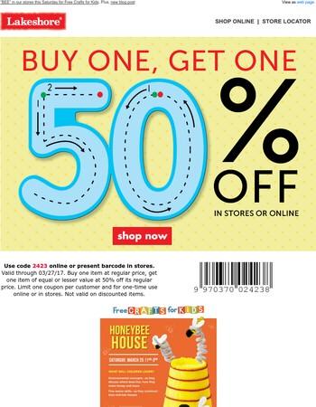 BOGO 50% Off + Craft a Honeybee House