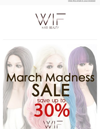 WigIsFashion - March Madness Sale