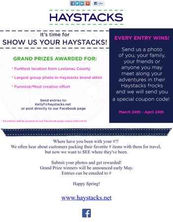 Show Us Your Haystacks Contest!