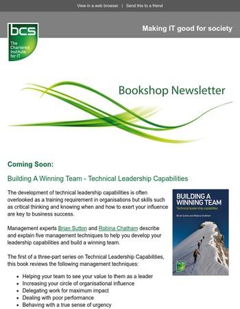 BCS Bookshop: Coming Soon - Building A Winning Team