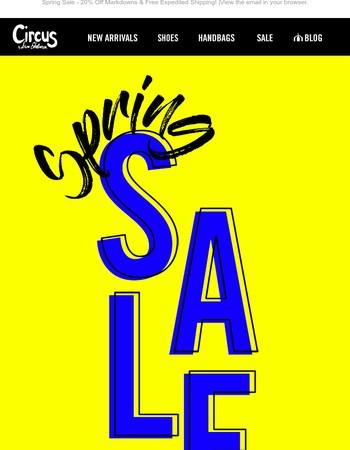 Sale on Sale - Extra 20% Off!