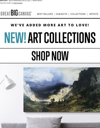 Shop epic landscape paintings by Albert Bierstadt