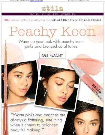 Peach Perfect + Free Mascara & Lipstick Duo