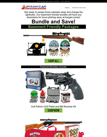 Get more for less with our Basement Bundles