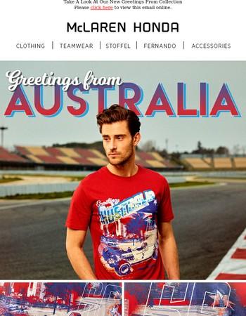 Greetings From Australia...