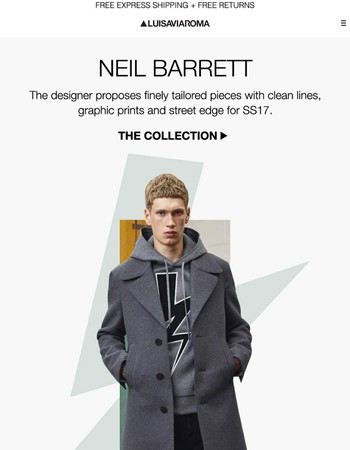 Neil Barrett, the go-to designer for clean and bold menswear