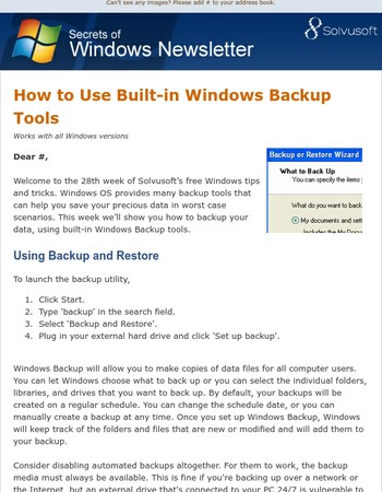 How to Use Built-in Windows Backup Tools