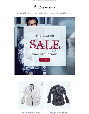 Mid-Season Sale - Final Reductions