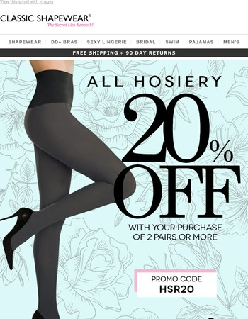 20% OFF all hosiery!