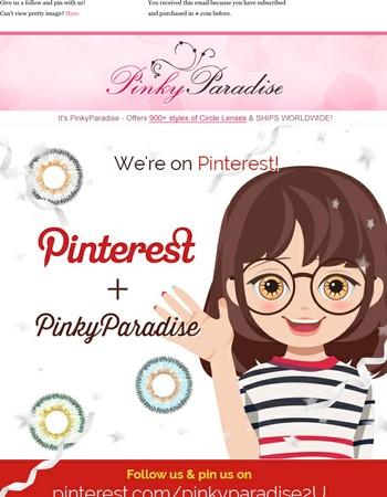 We're On Pinterest
