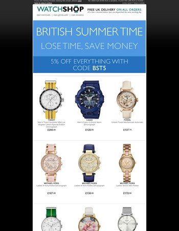 British Summer Time - Lose Time, Save Money!