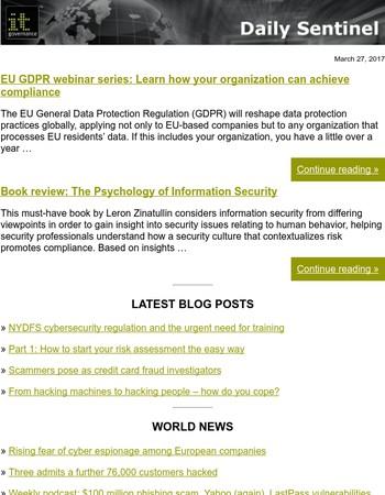 EU GDPR webinar series: Learn how your organization can achieve compliance
