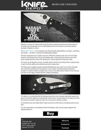 Badass Knife of the Week - Spyderco Manix 2