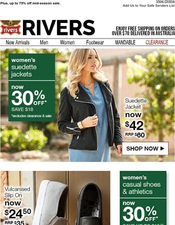 Amazing value! 30% off the women's suedette jacket.