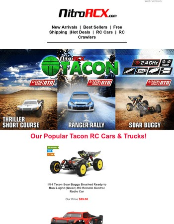 Our Hot Selling Tacon RC Cars & Trucks