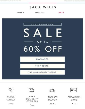 Sale ends TOMORROW!