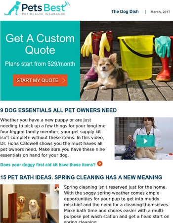 March's Dog Dish: Fight Muddy Paw Prints!