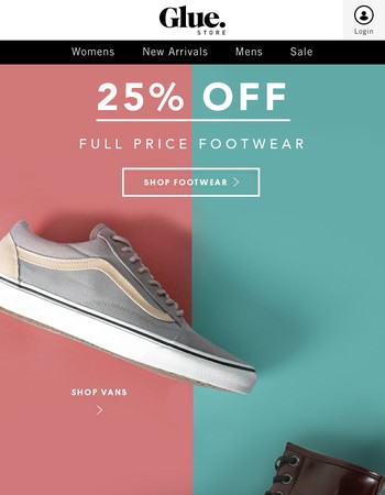 25% Off Full Price Footwear!