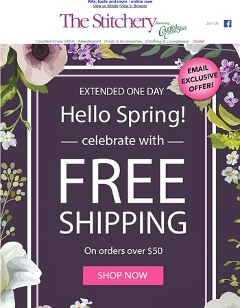 Exclusively Yours! Free Shipping! Extended 1 More Day