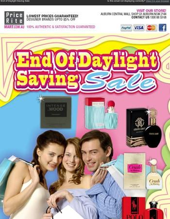 End of Daylight Saving Sale