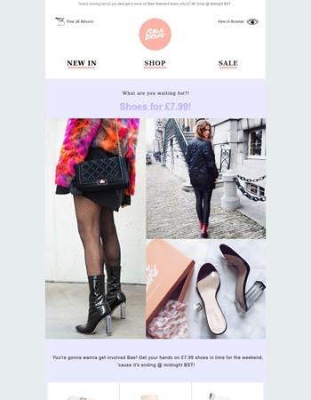 200+ shoes at £7.99!