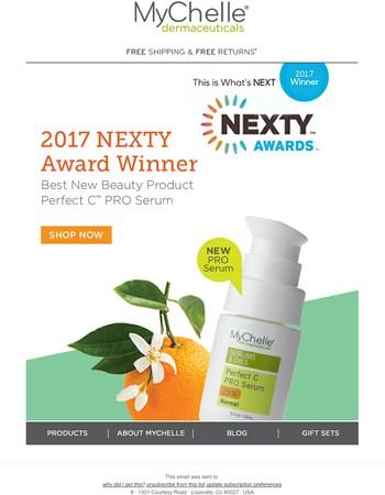 We're what's NEXT! 2017 NEXTY Award Winner