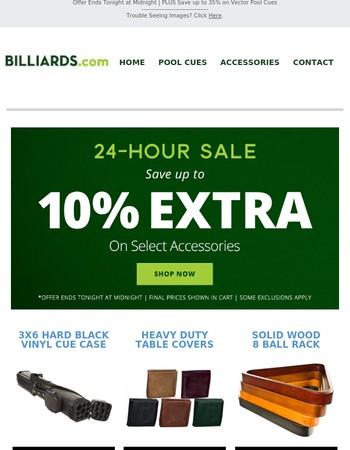 24-Hour Sale on Billiard Accessories!