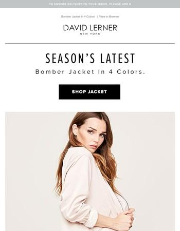 Season's Latest—Bomber Jacket