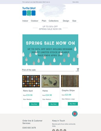 Spring SALE now on   up to 50% off best-selling designs