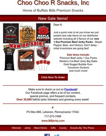 New Sale Items at Buffalo Bills Beef Jerky