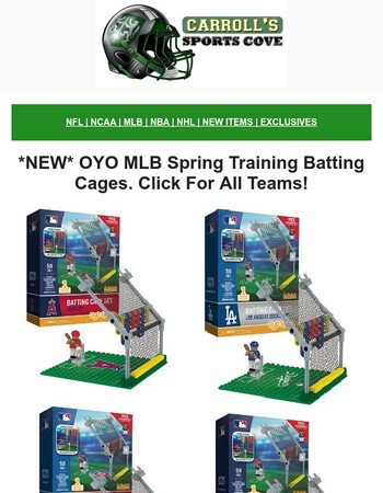 *NEW* MLB OYO Spring Training Batting Cages & Mascot ATV's