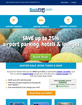 ✈ Easter Sale. SAVE up to 25% Airport Parking, Hotels & Lounges. Book Now ✈
